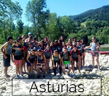 Campamento viaje fin de curso Asturias