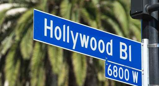 Hollywood Blvd street sign in Los Angeles